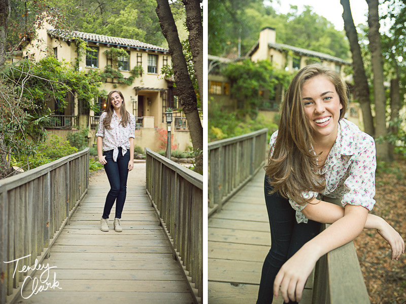 Menlo Park high school senior portrait session at Hidden Villa Farm in Los Altos.