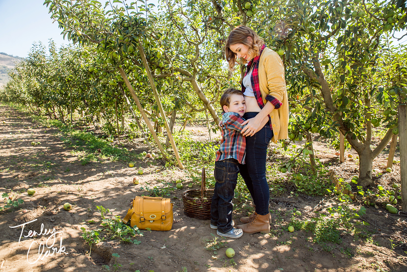 Week 15 of our pregnancy. Since the little nugget was the size of an apple that week we thought the apple orchard would make the perfect spot for this weeks pictures.